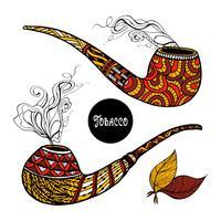 doodle pipes set vektor