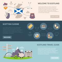 Skottland Banners Set vektor