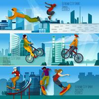 Extreme City Sport Flat Banner Set