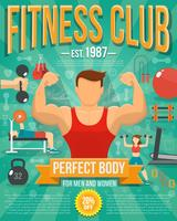 Fitness affisch illustration