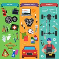 Auto Service Banner Set