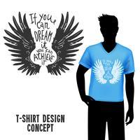 T-Shirt-Design mit Beschriftung vektor