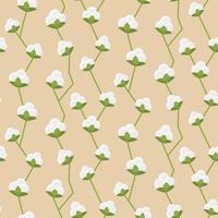 Nahtloses Muster aus Baumwolle vektor