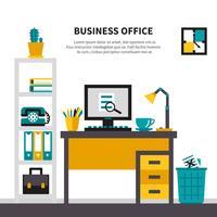 Business Arbetsyta i Office Interior vektor