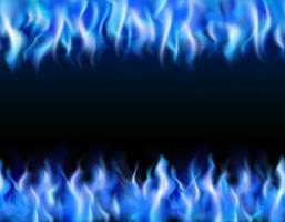 Blue Fire Tileable Borders vektor