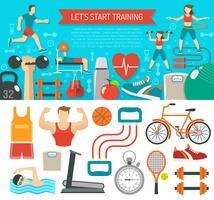 Fitness Banner Horisontell