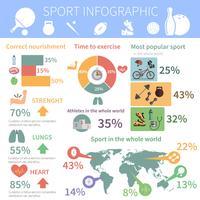 Populärer Sport Infographik Bericht drucken vektor
