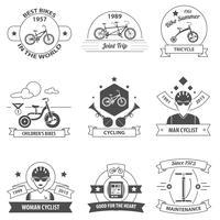 Cykel etikettuppsättning vektor