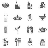 Spa och koppla av ikoner vektor
