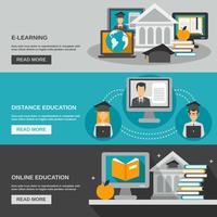 e-learning banner set