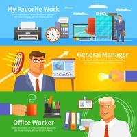 Büro-Banner-Set