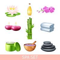 Spa och Wellness Set vektor
