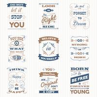 Citat Typografi Retro Set