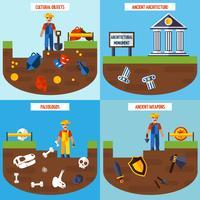 Plattfärg arkeologi Design Concept Set