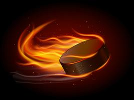 Puck im Feuer vektor