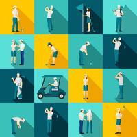 Golf Människor Flat vektor