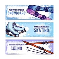 Wintersport-Banner-Set vektor