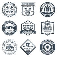 Motorcykel Etiketter Svart vektor