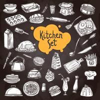 Lebensmittel-Tafel-Set vektor