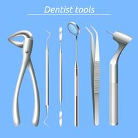 Tandläkare Verktyg Set vektor