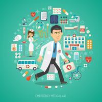 Konzept der medizinischen Versorgung vektor