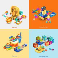 Leksaker isometrisk uppsättning