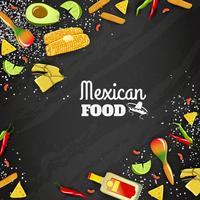 Mexikansk mat sömlös bakgrund vektor