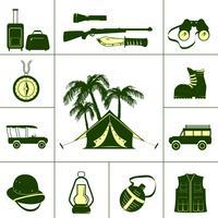 Safari ikoner för jakt