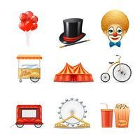 Cirkusikoner Set