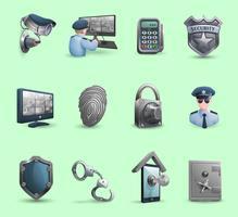 Säkerhetssymboler Icons Set