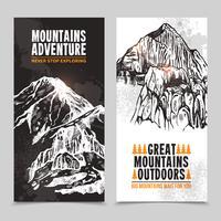 Bergtourismus 2 vertikale Banner vektor