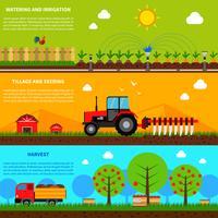 Jordbruksbanneruppsättning vektor