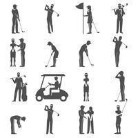 Golf Människor Svart