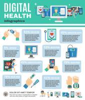 digitala hälsoinfographics vektor