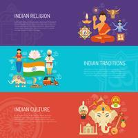 Indien-Fahnenset