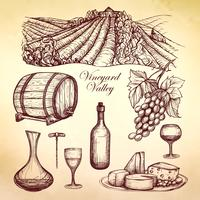 Vin skiss samling