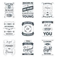 Zitate Typografiesatz vektor