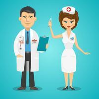 Doktor und Krankenschwester vektor