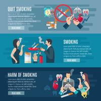 Rökning Banner Set vektor