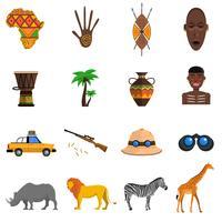 Safari-Icons gesetzt vektor