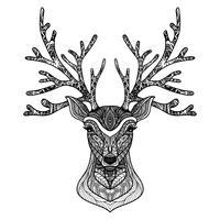 Dekoratives Rotwild-Portrait vektor