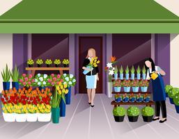 Blomsterbutik entré banner