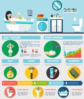 Personlig hygien infografisk rapport layout vektor