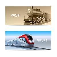 Train Banner-Set vektor