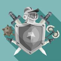 riddare emblem illustration vektor