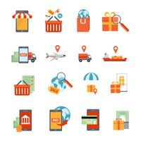 M-Commerce Icons Set