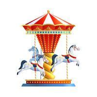 Realistisk karusell isolerad