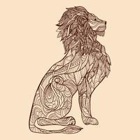 Löwe-Skizze-Illustration