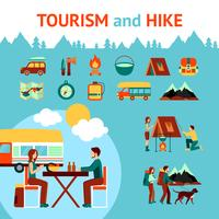 Turism och vandring Infographics vektor