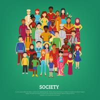 Samhällets konceptillustration